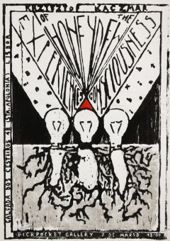 woodcut poster of the exhibition (drzeworytniczy plakat wystawy)