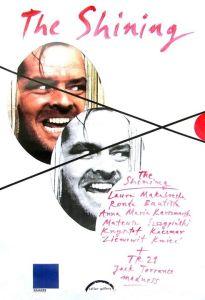 """""""The shining"""" exhibiotion poster (plakat wystawy """"Lśnienie"""")."""