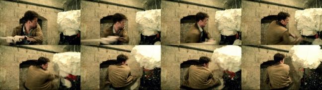 Krzysztof Kaczmar, Wnętrze zewnątrz, Środowisko performatywne, Cellar Gallery, kwiecień 2015, sekwencja zdjęć