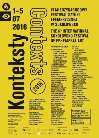 Plakat VI Międzynarodowego Festiwalu Sztuki Efemerycznej Konteksty